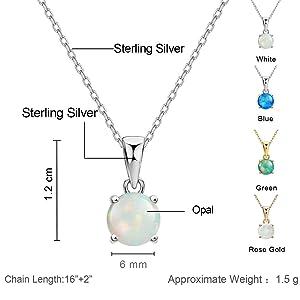 mints opal pendant necklace