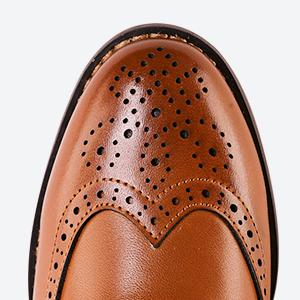Wingtip design gives him the dressy details, bringing a classy look