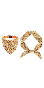 yellow dog bandana collar