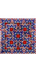 Talavera Ceramic Tiles Cancun Red