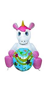 Inflatable Easter Unicorn Eggs