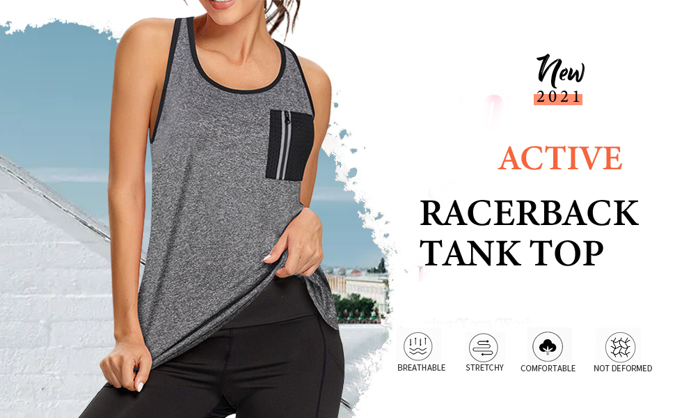 VALOLIA womens Sleeveless Workout Tank Tops Gym Running Yoga Tank