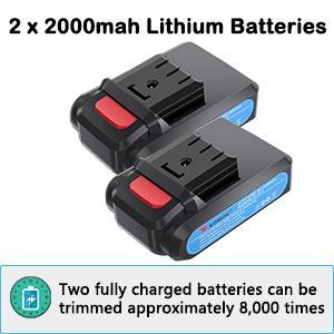 2 batterys