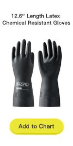 12.6amp;#34; Length Latex Chemical Resistant Gloves