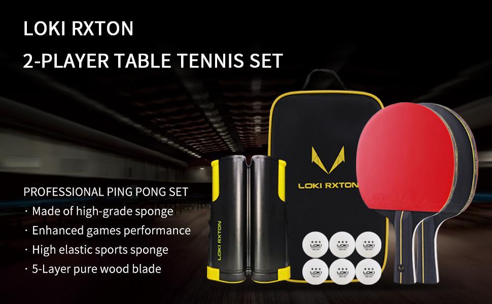 ping pong paddles set of 2