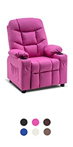 leather recliners for kids