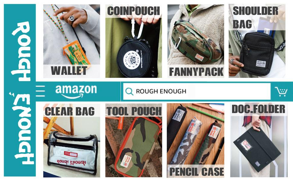 rough enough wallet coin pencil tool pouch fanny pack crossbody toiletry makeup document folder bag
