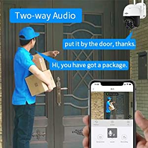 Two-way audio camera