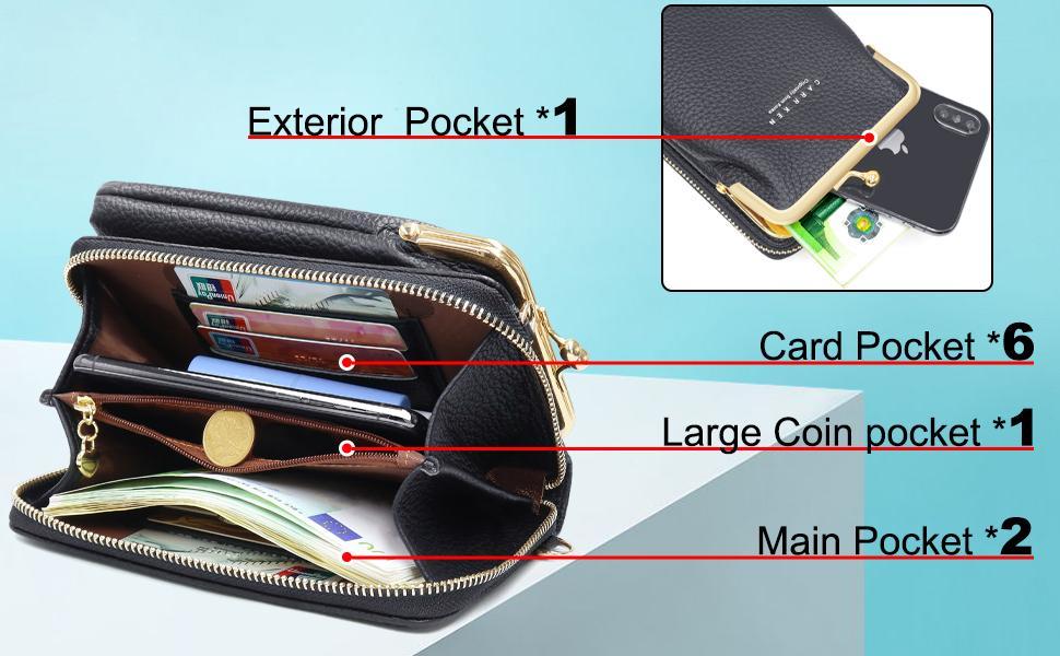 bolso pequeño mujer cartera y móvil