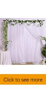 Tulle Backdrop for wedding