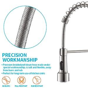 Led kitchen faucet light