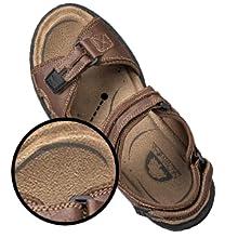 Sandals have foam insoles