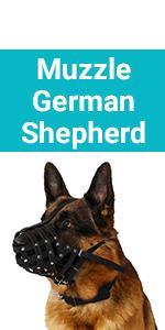 CollarDirect Dog Muzzle German Shepherd Dalmatian Doberman Setter Leather Basket Medium Large