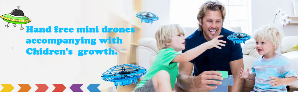 Drones for Kids Hand Operated Drones Mini Drones Mini UFO Drone with LED Light
