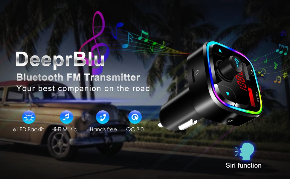 Bluetooth 5.0 FM Transmitter