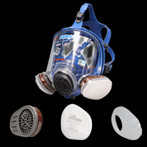 respirator mask with filters