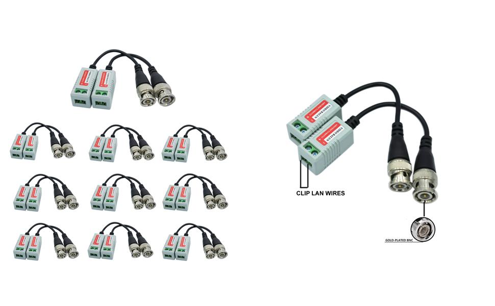 BNC Video Balun Connectors