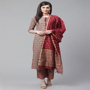 red kurta set maroon kurta set art silk dupatta set cotton kurta set cotton kurta kurta with palazo