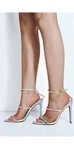 Shine bright in these rhinestone heels
