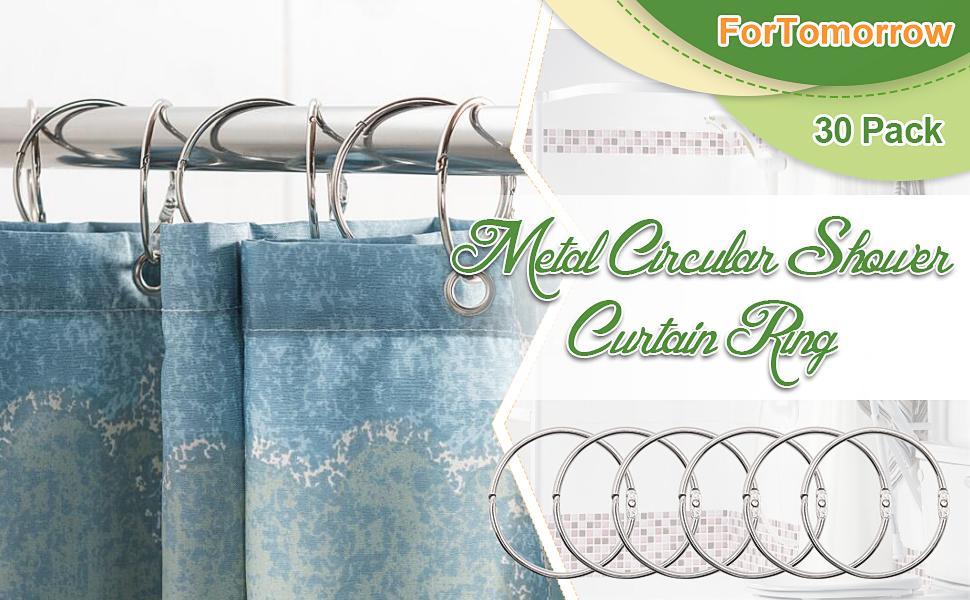 metal circular shower rings