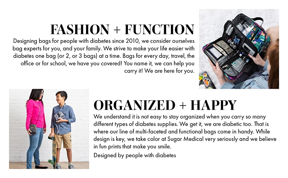 Sugar Medical Diabetic Diabetes Supply Case Fashion and Function Organized and Happy