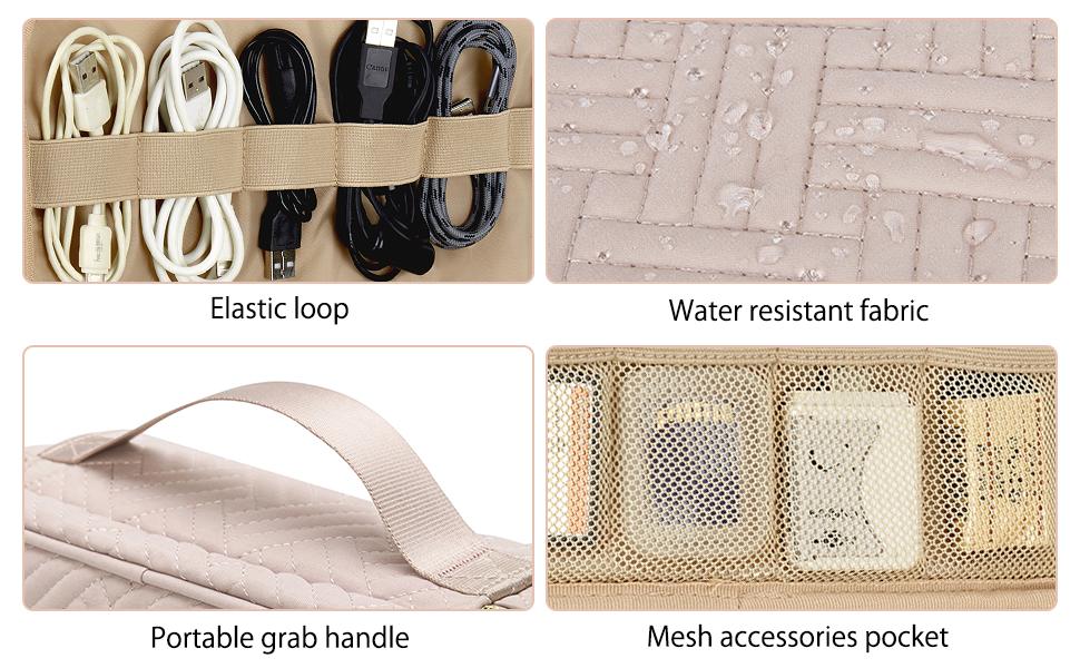 Bagsmart Electronics Organizer Double Layer Cable Organizer Bag cable organizer bag