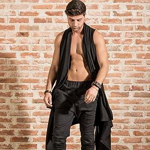 COOFANDY mens fashion sleeveless cardigan vest front open shawl collar cardigan