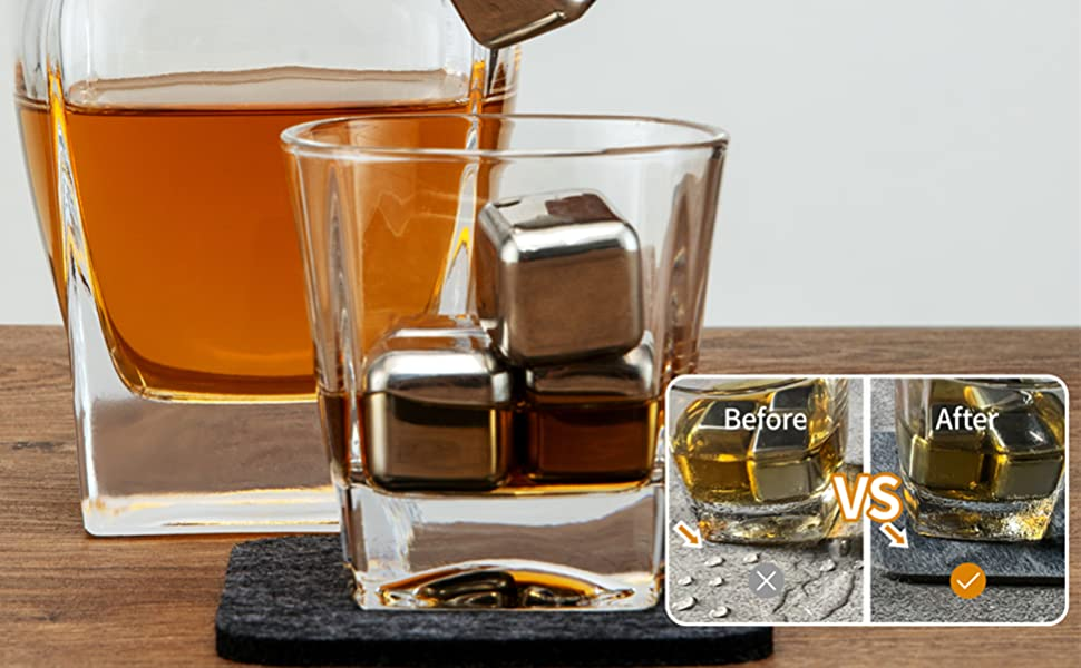 Whiskey Decanter Set Old Fashioned Glasses Luxurious Gift Set with Ice Stones