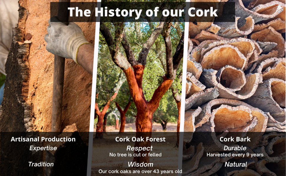 The history of our cork 100% natural and artisanal