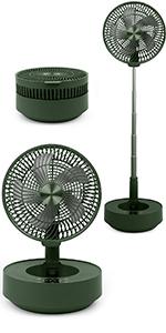 green foldaway fan