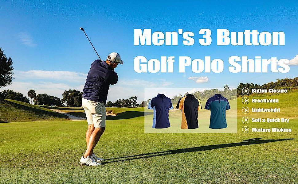 golf polo shirts for men