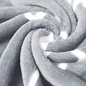 grey silver sleet gray granite fluffy plush minky cozy comfy thick fibers blanket mantra throw