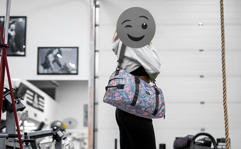 TUGUAN Gym Bag for Men 19''40L Thick Durable Overnight Hospital Travel Bag with Wet Pocket