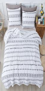 Litanika White boho comforter