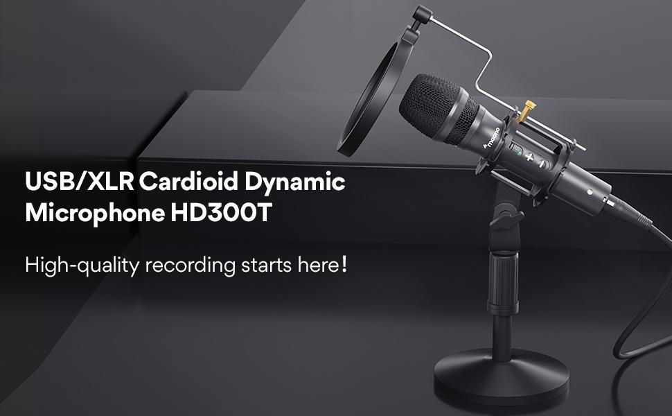 USB/XLR Cardioid Dynamic microphone