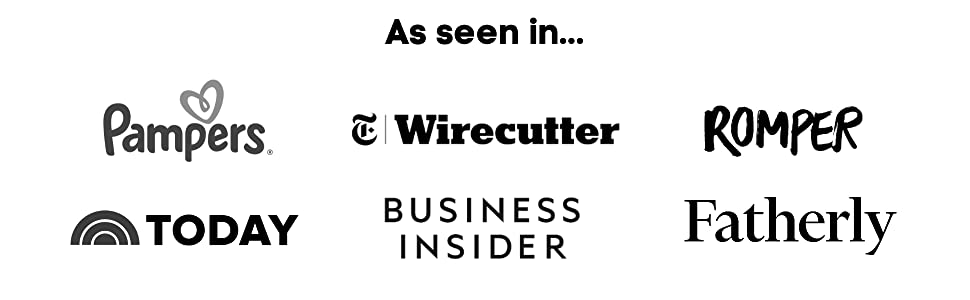 As seen in Pampers, Wirecutter, Romper, Today. Business Insider and Fatherly