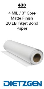 Dietzgen Inkjet Bond Paper