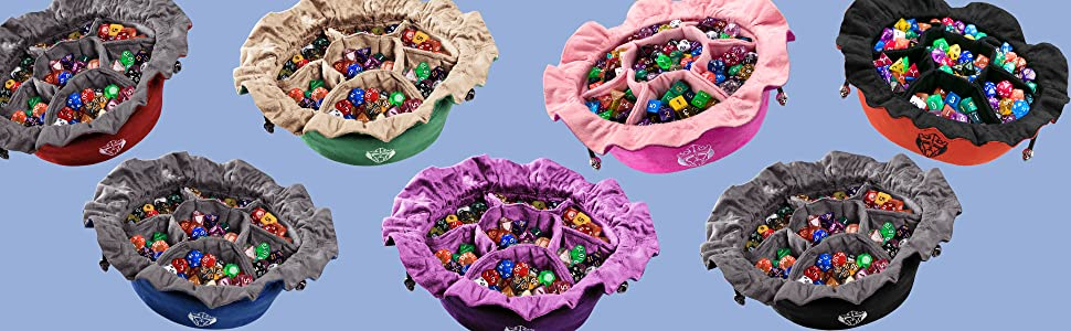 cardkingpro, immense, immense dice bag, dice bag with pockets, large dice bag, dungeons and dragons