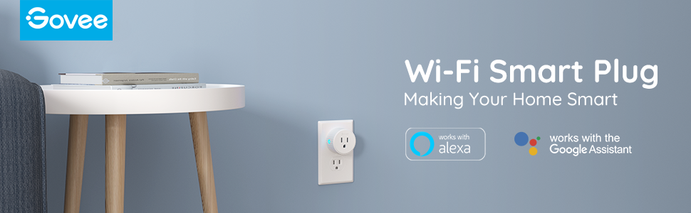 Govee Smart Plug, Mini WiFi Socket Outlet Works with Alexa and Google Assistant