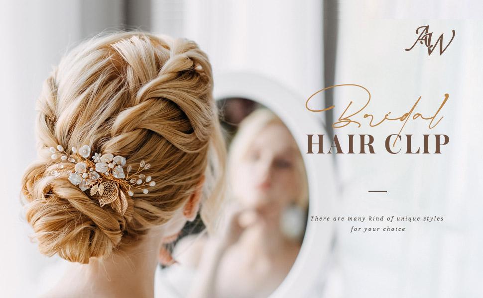 wedding hair clips for Bride