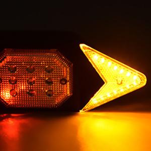 Flashing right turn light