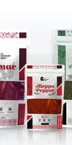 bundle sumac peppermint aleppo pepper