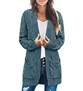 MEROKEETY Open Front Fall Outwear Coat