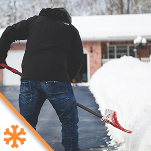 snow shoveling gloves hand protection warmth easy slide on damp conditions
