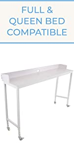 Joy Overbed Table   Full and Queen Bed Compatible