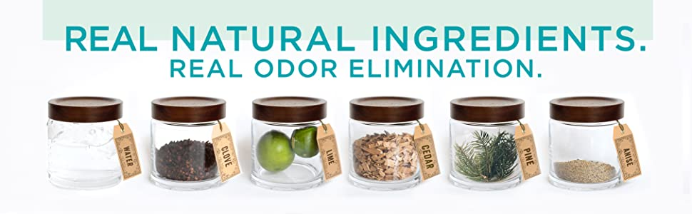Real Natural Ingredients. Real Odor Elimination.