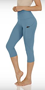 714 yoga capris leggings with pockets