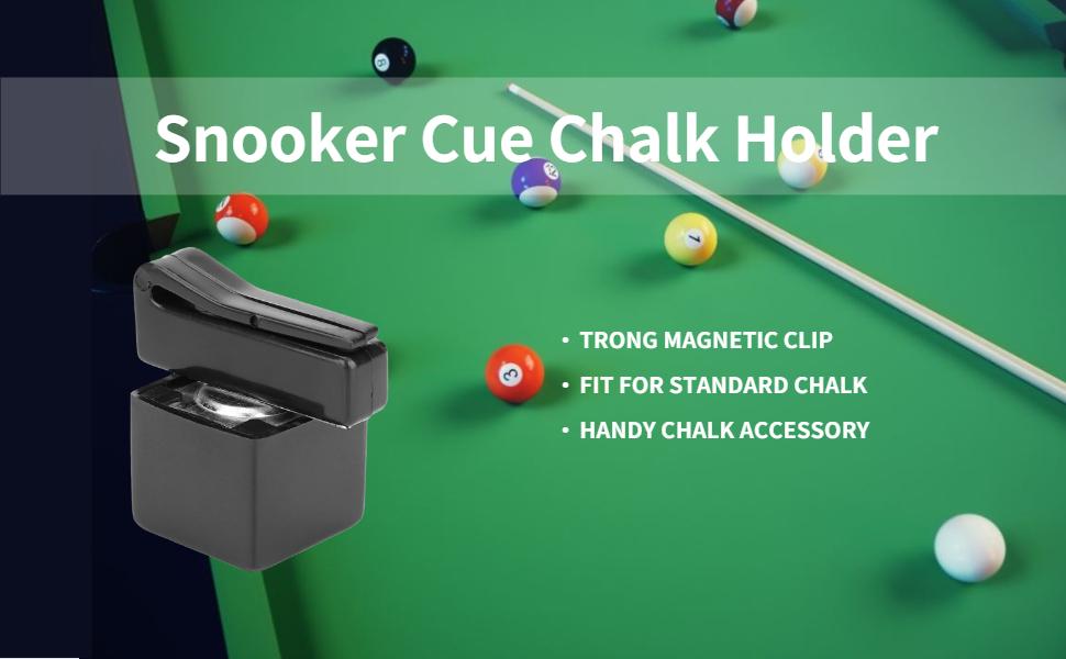 Stylish Aluminium Magnetic Chalk Holder /& Chalk for Snooker or Pool Green