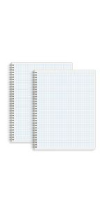 Large Graph Ruled Spiral Notebook 8.5 x 11 in