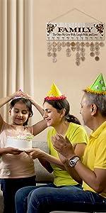 Joy-Leo Family Birthday Reminder Calendar Board - Model JL01